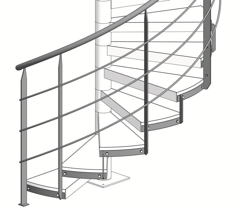 Geländer Spindeltreppe BASIC