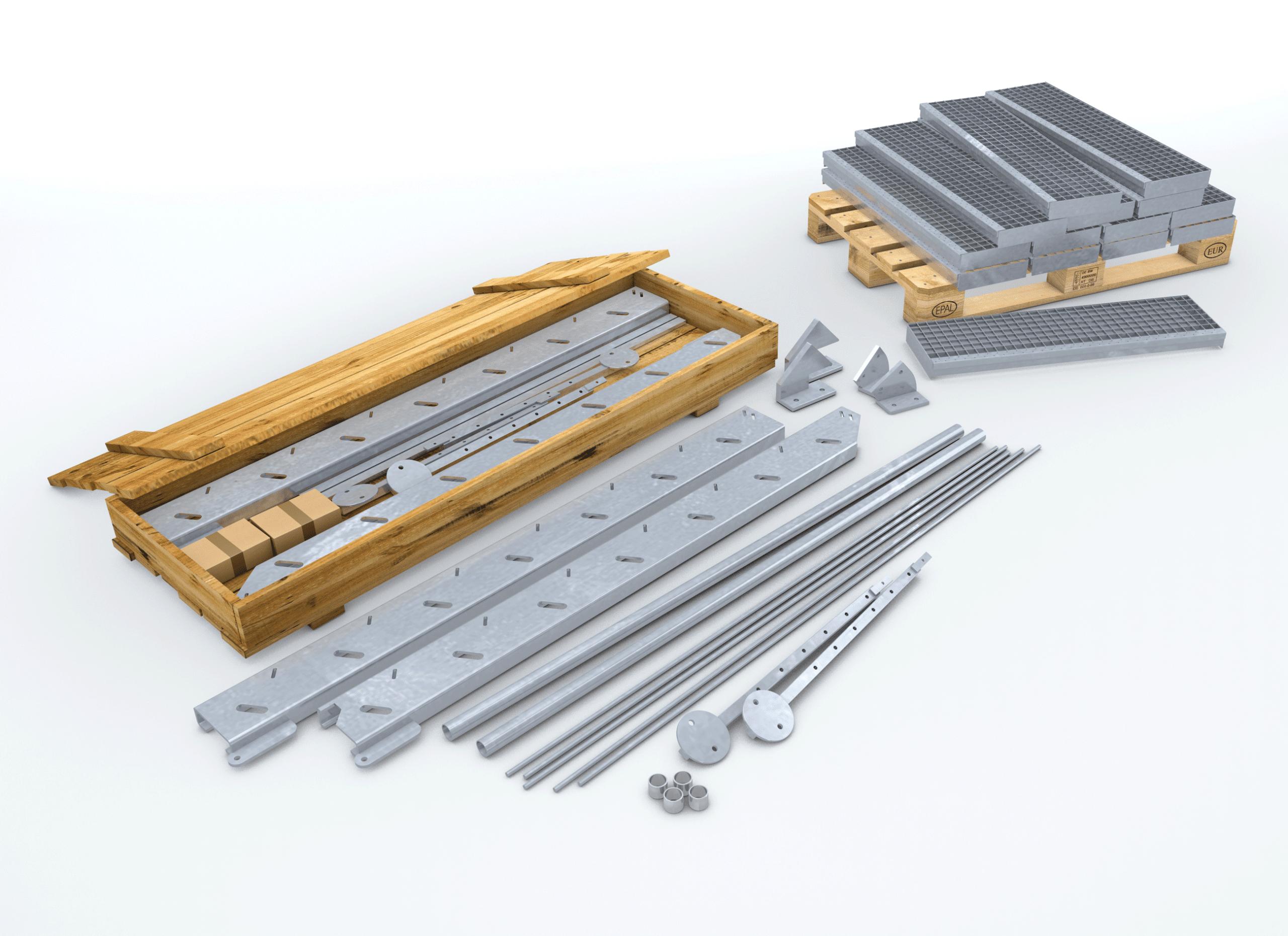 Bausatz für Gitterroste
