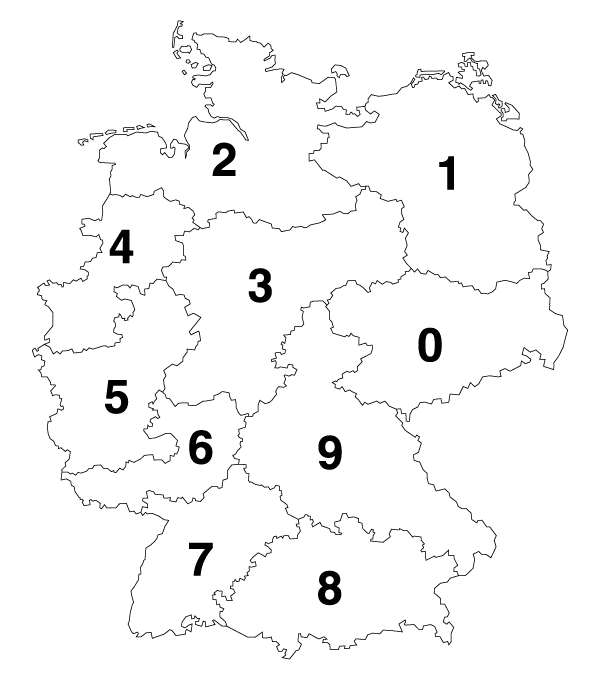 Verkaufsgebiete Deutschland für Gitterrose und Spindeltreppen