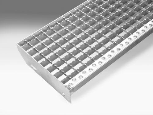 Edelstahl Norm-Treppenstufen - Maschenweite 30/30 rutschhemmend
