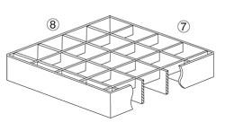 Rostlänge/ Tragstabrichtung Rostbreite/ Querstabrichtung