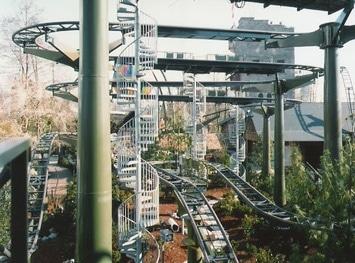 Spindeltreppe für Matterhorn Achterbahn im Europa Park Rust