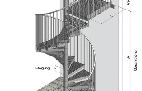 Treppen Bauplan